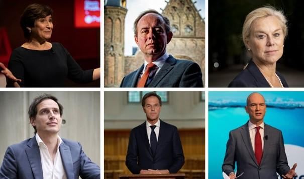 Portretten zes lijsttrekkers
